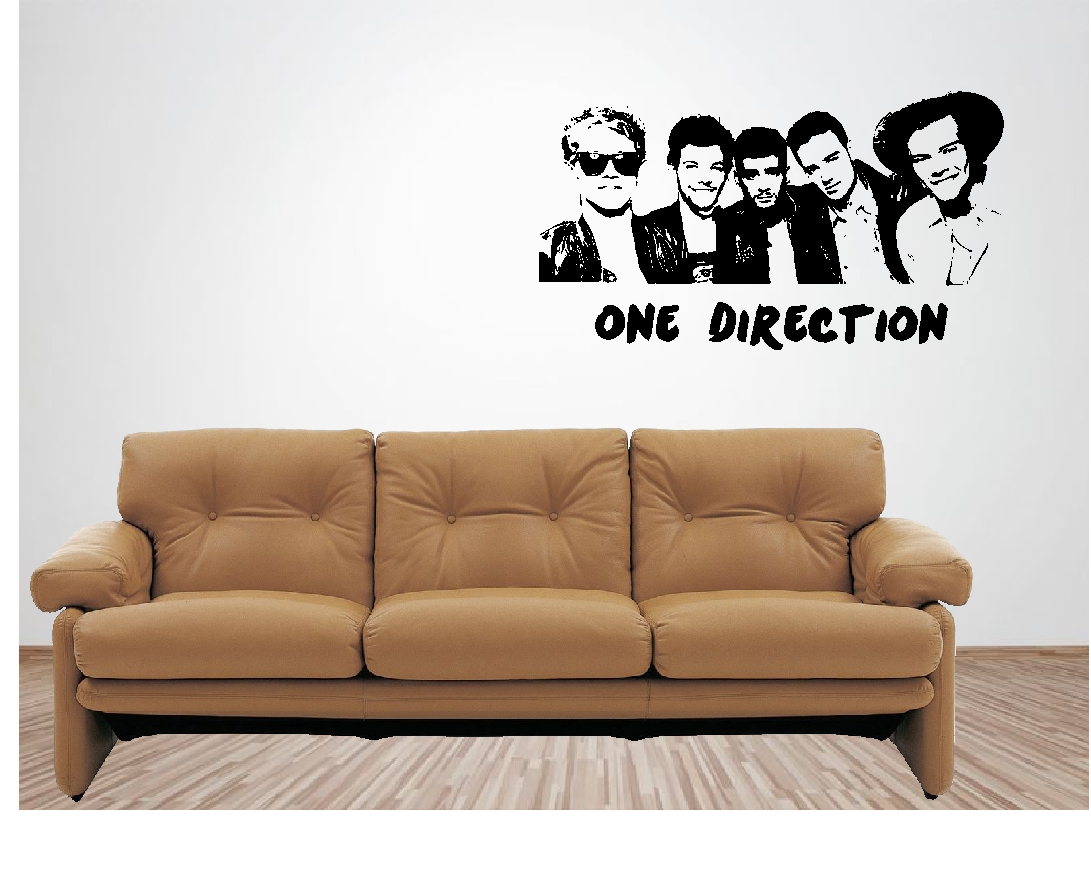one direction vinyl wall art quote sticker music singer musical 1d ebay. Black Bedroom Furniture Sets. Home Design Ideas