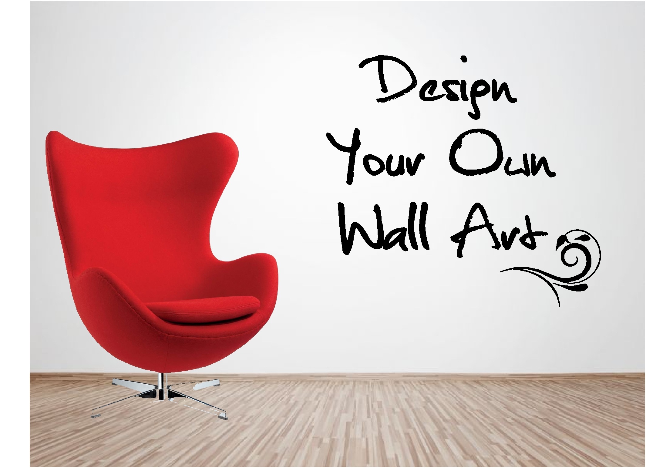 Personalised vinyl wall art design your own quote for Design your own mural