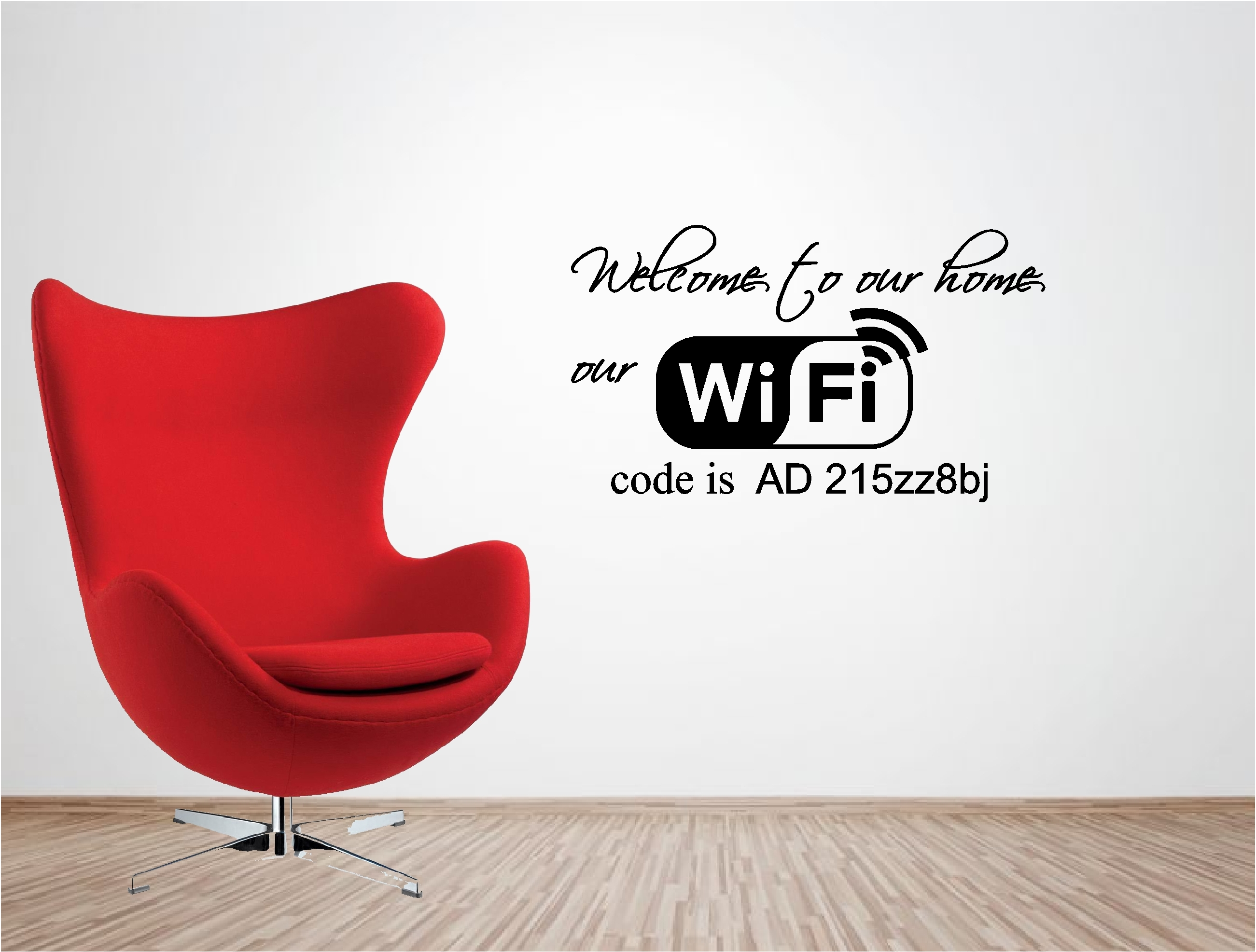 Ebay Wall Stickers Quotes Welcome To Our Home Wifi Code Vinyl Wall Art Quote Sticker
